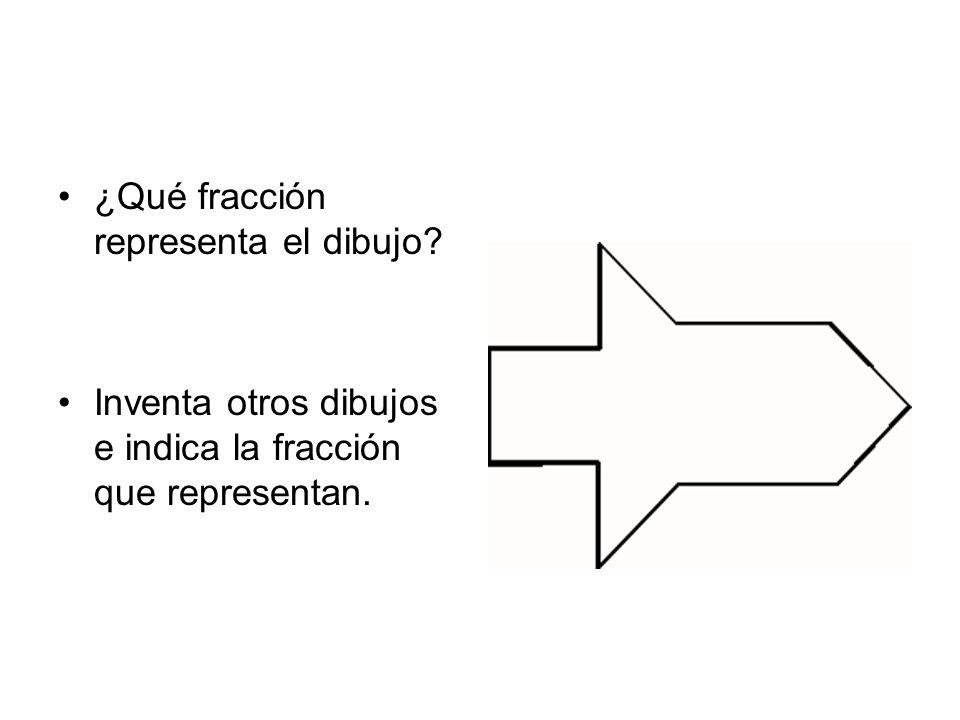¿Qué fracción representa el dibujo? Inventa otros dibujos e indica la fracción que representan.