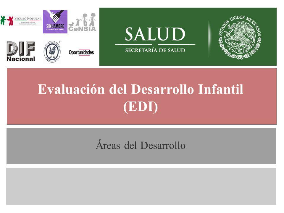 Generalidades Evaluación del Desarrollo Infantil (EDI) Áreas del Desarrollo
