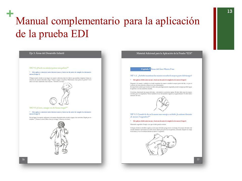 + Manual complementario para la aplicación de la prueba EDI 13