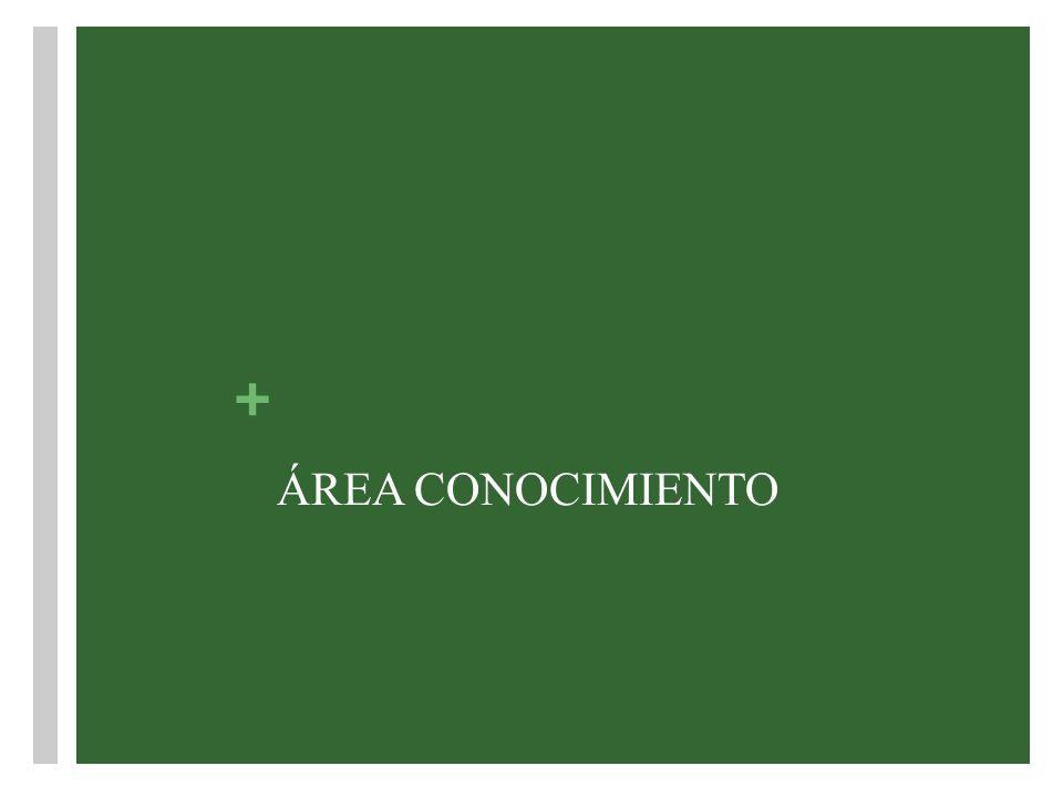 + ÁREA CONOCIMIENTO