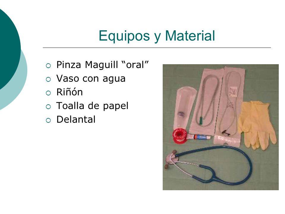 Una vez preparado el material…  Explicarle al paciente el procedimiento  Posición fowler  Lavado de manos  Retirar prótesis  Comprobar permeabilidad nasal  Medir sonda nasogastrica (desde la nariz al lóbulo de la oreja y al apéndice xifoides Adulto 55cm aprox. )