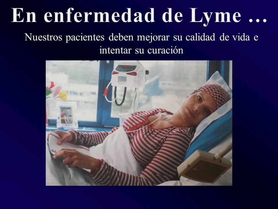 Nuestros pacientes deben mejorar su calidad de vida e intentar su curación