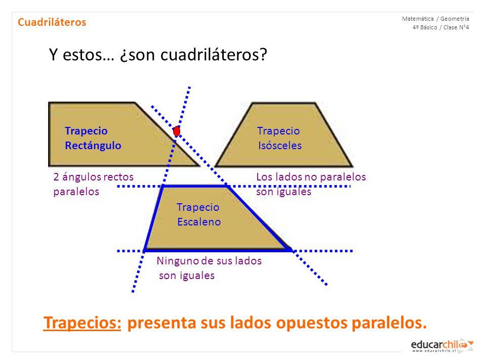 Matemática / Geometría 4º Básico / Clase N°4 Cuadriláteros Y estos… ¿son cuadriláteros.
