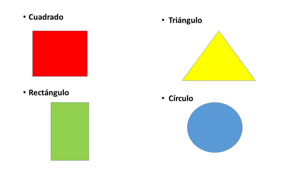Cuadrado Rectángulo Triángulo Círculo