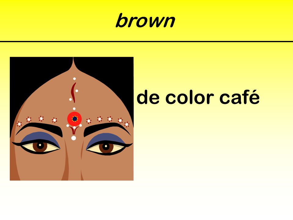 brown de color café
