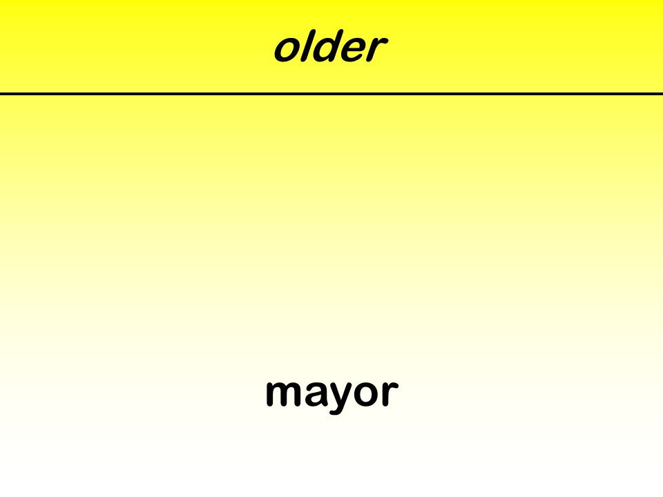 older mayor