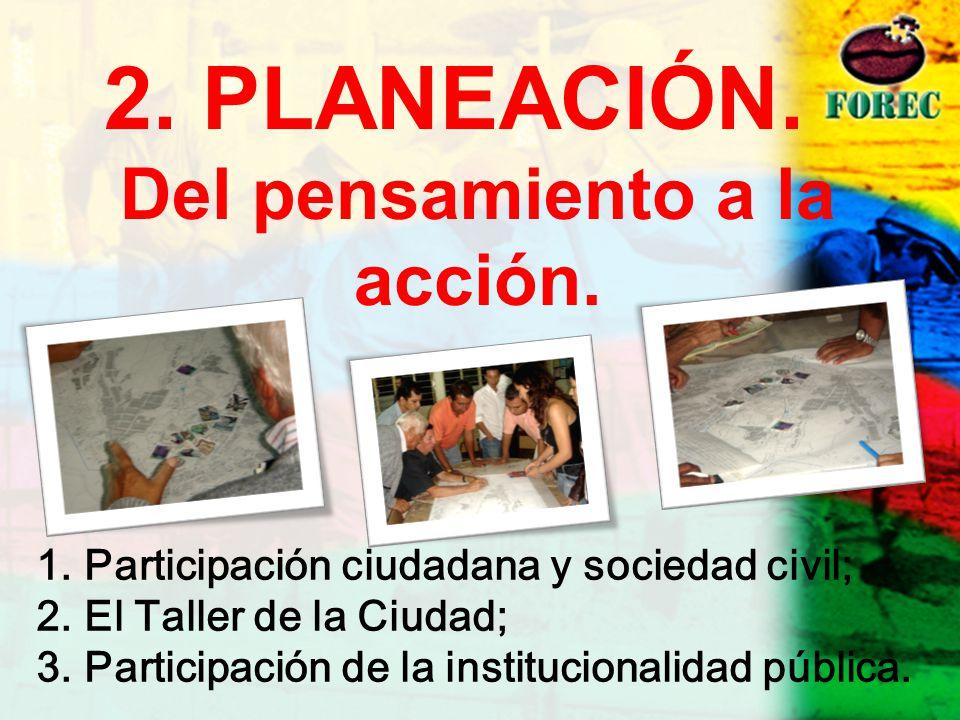 2. PLANEACIÓN. Del pensamiento a la acción.