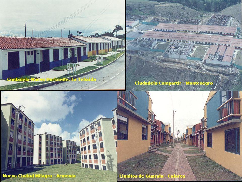 Nueva Ciudad Milagro - Armenia Ciudadela Compartir - Montenegro Llanitos de Guarala - Calarca Ciudadela Nuevo Horizonte.