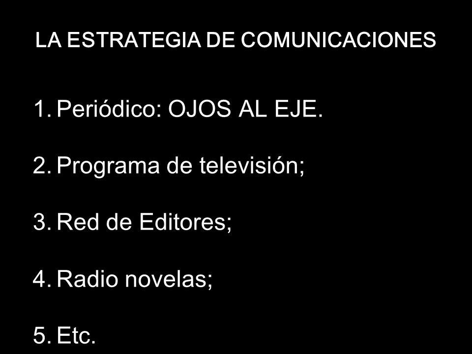 LA ESTRATEGIA DE COMUNICACIONES 1.Periódico: OJOS AL EJE.