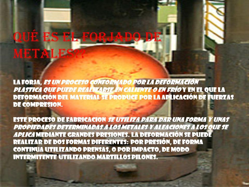 tipos de forja existen 3 tipos de forja: forja libre : Es el tipo de forja industrial más antiguo y se caracteriza porque la deformación del metal no está limitada (es libre) por su forma o masa.