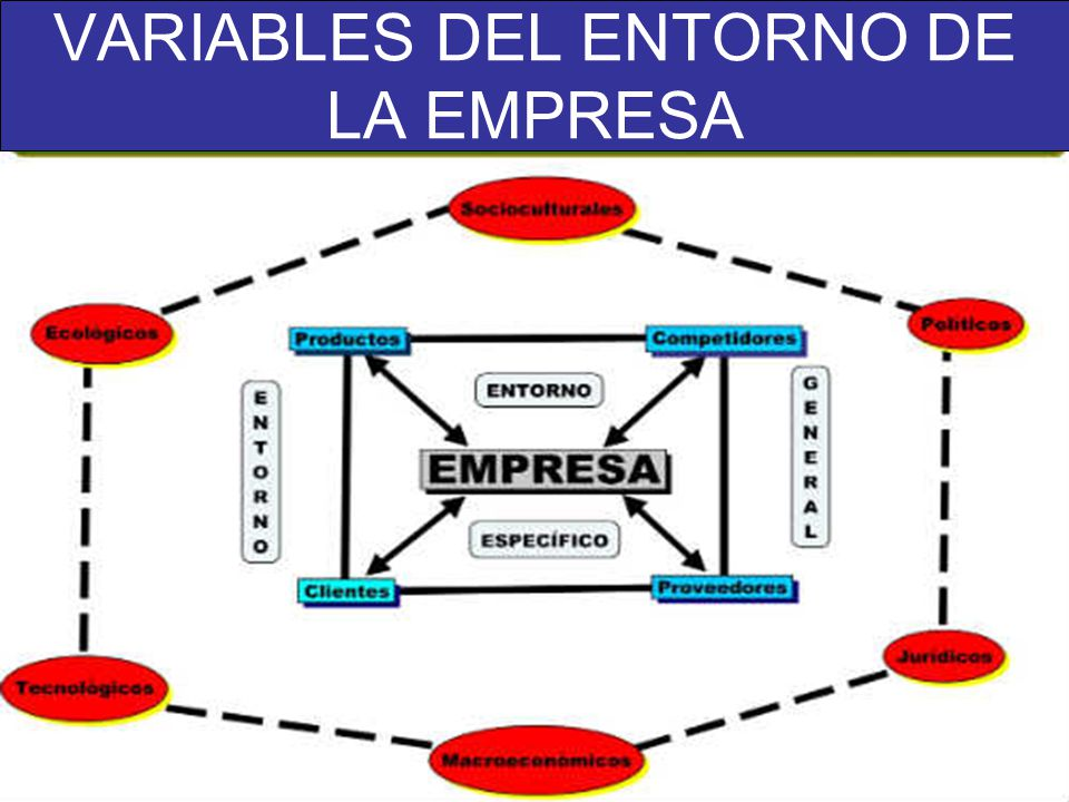 VARIABLES DEL ENTORNO DE LA EMPRESA