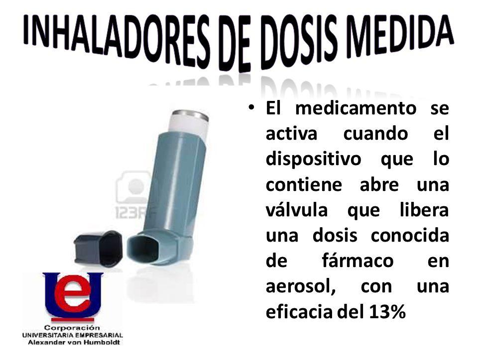 El medicamento se activa cuando el dispositivo que lo contiene abre una válvula que libera una dosis conocida de fármaco en aerosol, con una eficacia