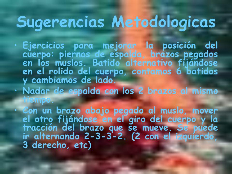 Sugerencias Metodologicas Ejercicios para mejorar la posición del cuerpo: piernas de espalda, brazos pegados en los muslos.