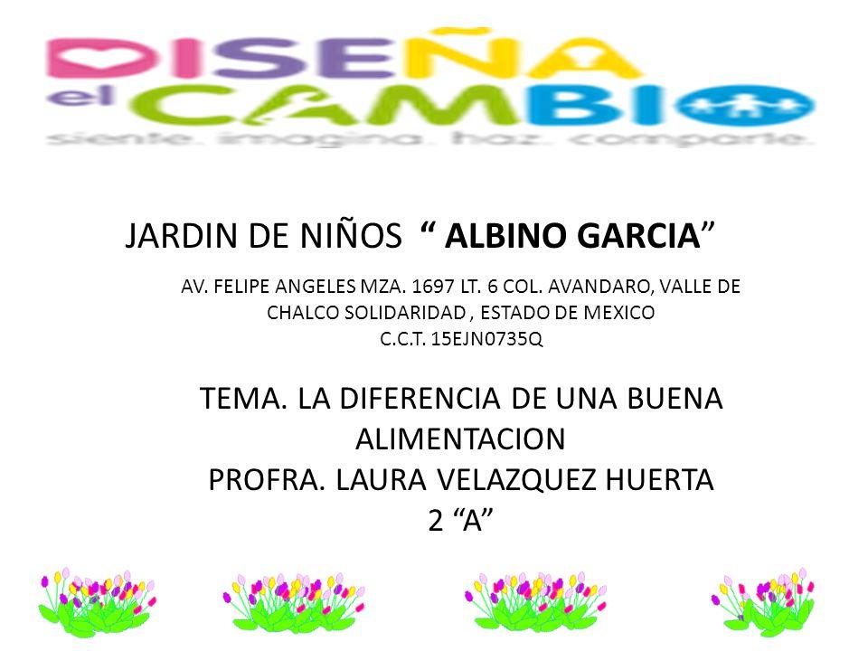 """JARDIN DE NIÑOS """" ALBINO GARCIA"""" AV. FELIPE ANGELES MZA. 1697 LT. 6 COL. AVANDARO, VALLE DE CHALCO SOLIDARIDAD, ESTADO DE MEXICO C.C.T. 15EJN0735Q TEM"""