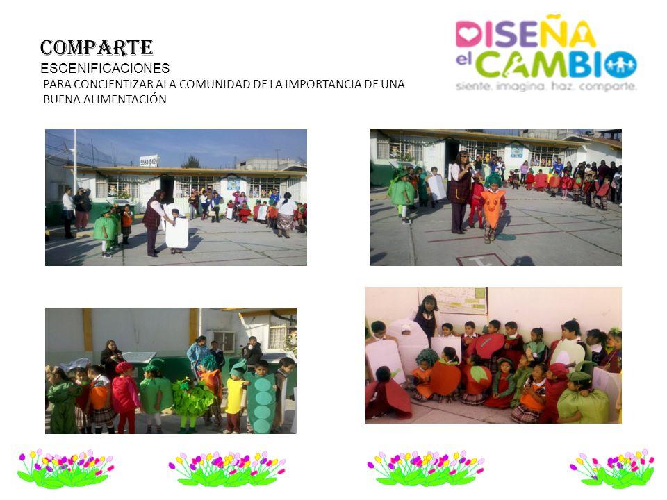 COMPARTE ESCENIFICACIONES PARA CONCIENTIZAR ALA COMUNIDAD DE LA IMPORTANCIA DE UNA BUENA ALIMENTACIÓN
