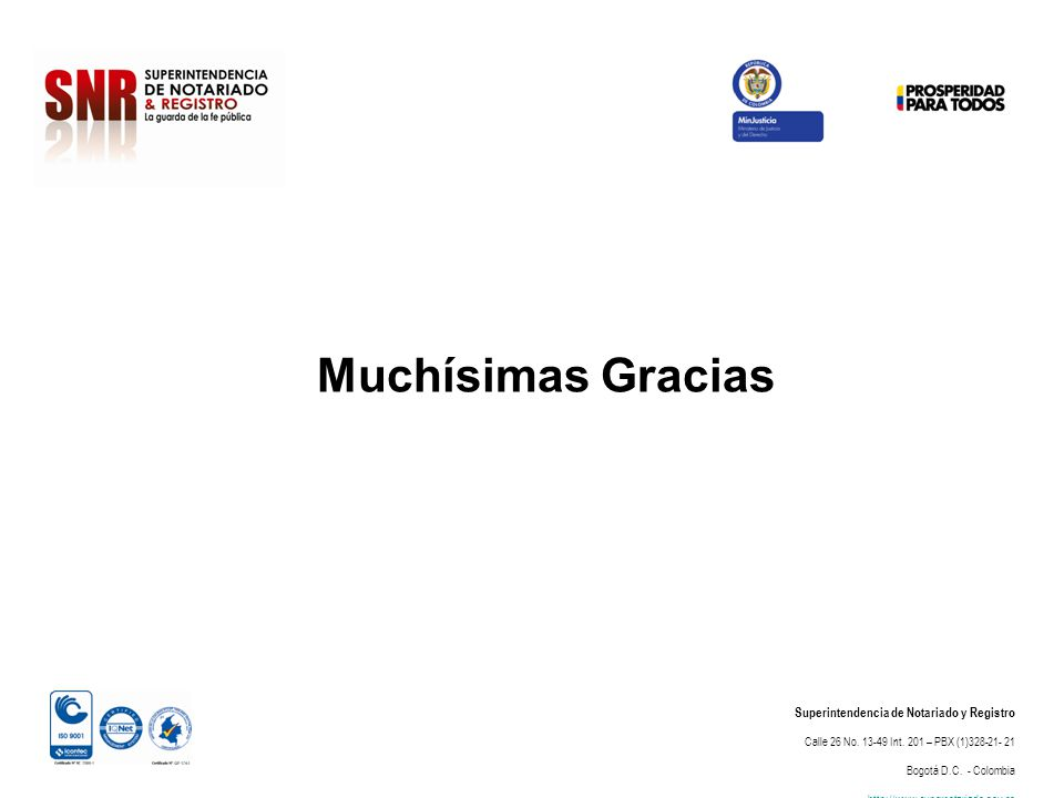 Superintendencia de Notariado y Registro Calle 26 No.