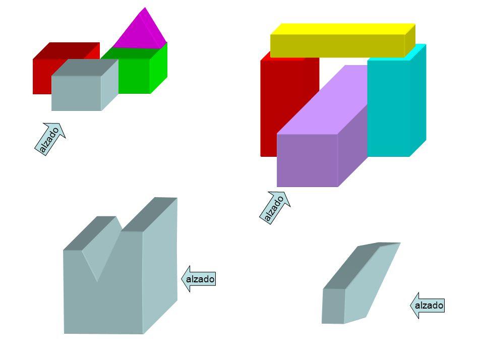 Solo se dibujan estas tres vistas porque casi siempre es suficiente para hacernos una idea de la pieza. Solo en casos muy excepcionales se necesita di