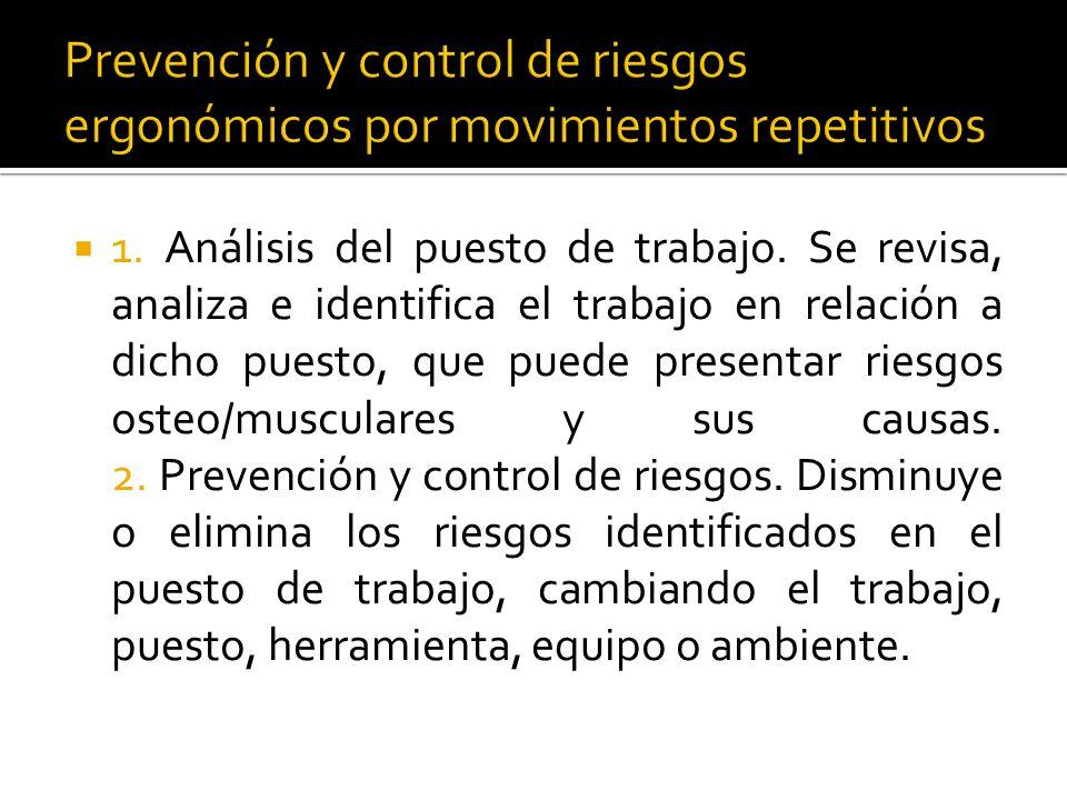  Para intervenir un problema mediante acciones ergonómicas, podemos usar tipos los controles administrativos.