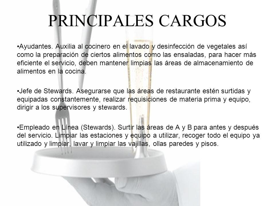 PRINCIPALES CARGOS Ayudantes.