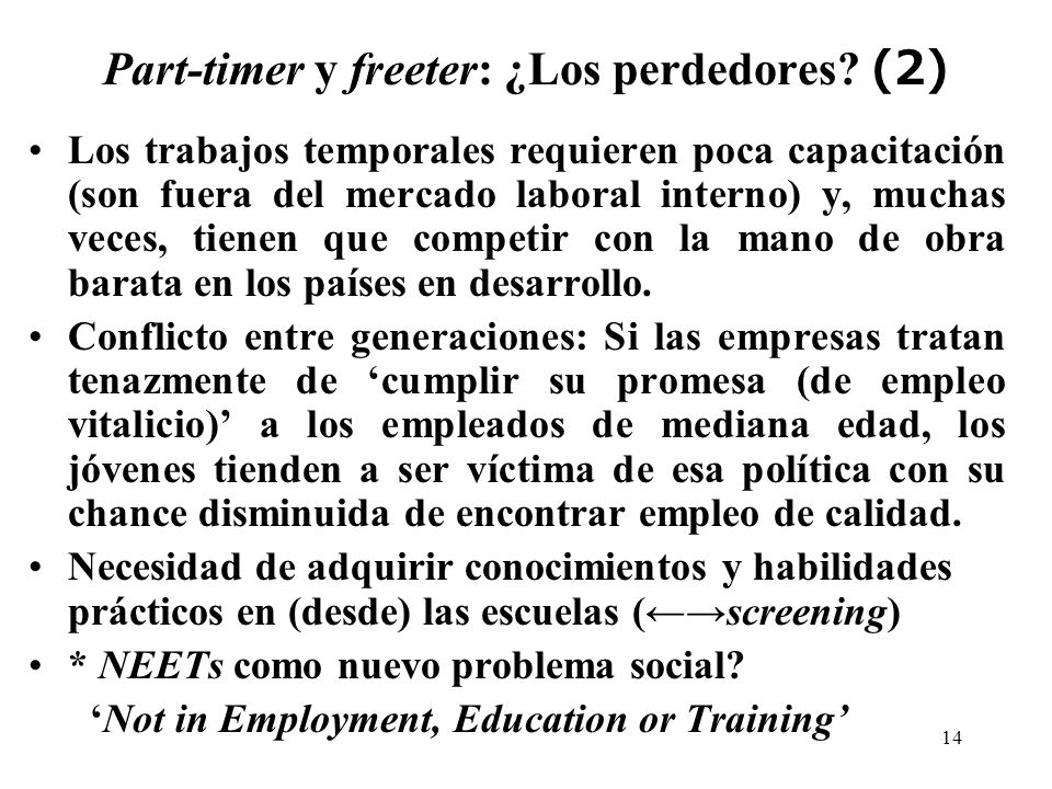 14 Part-timer y freeter: ¿Los perdedores.