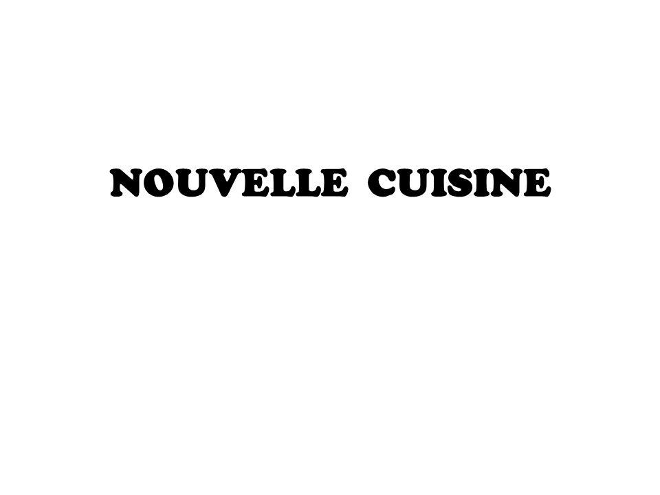 se creó en Francia en 1976, por el chef Alain Saenderens y es un enfoque a la preparación y presentación de la comida.