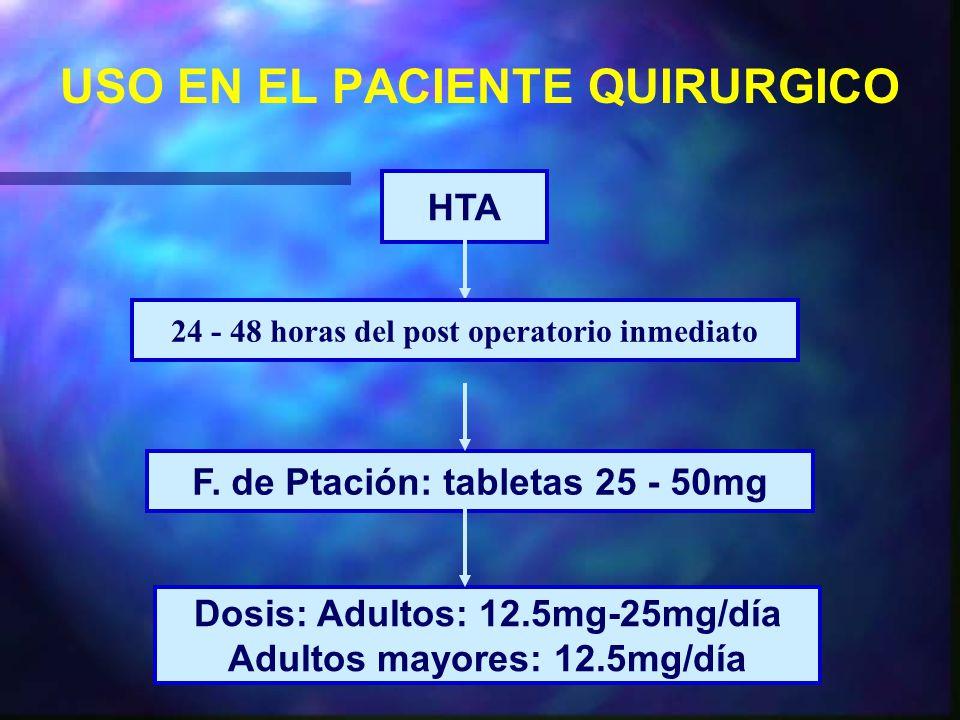 USO EN EL PACIENTE QUIRURGICO HTA F.