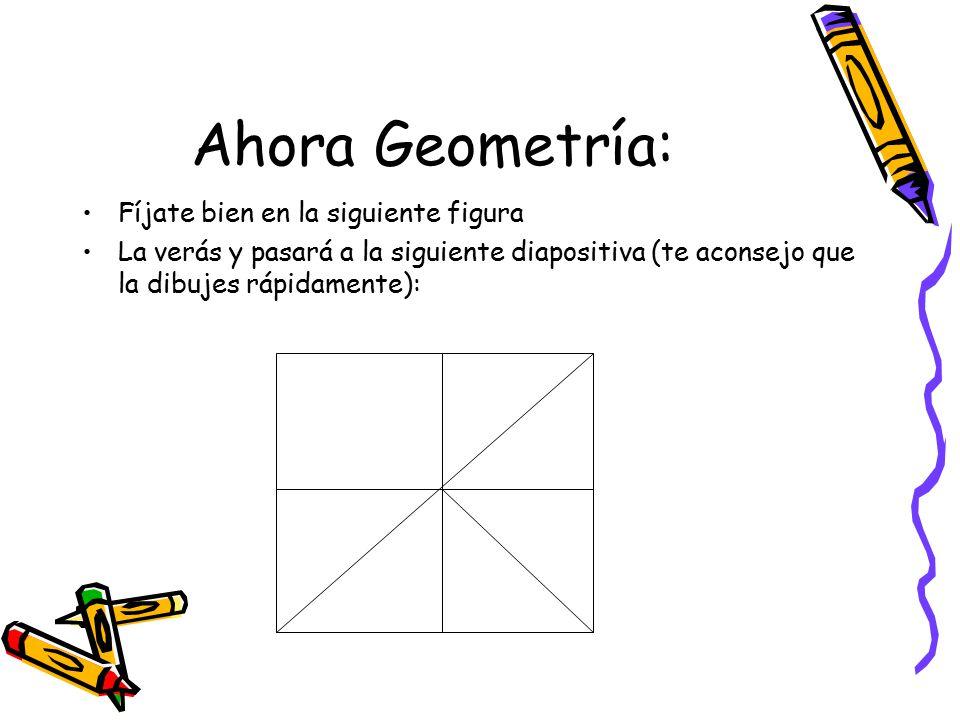 La pregunta consiste en: Averiguar cuántos triángulos contiene el cuadrado que has visto