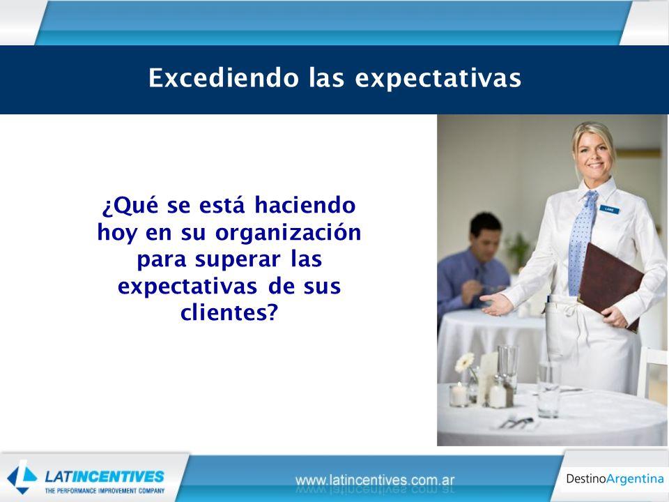¿Qué se está haciendo hoy en su organización para superar las expectativas de sus clientes.
