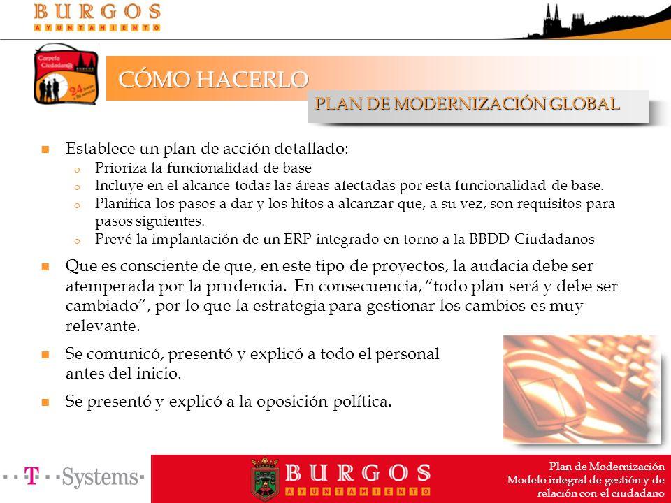 Plan de Modernización Modelo integral de gestión y de relación con ...