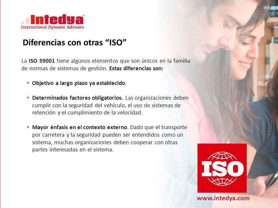 www.intedya.com El Conflicto en detalle La ISO 39001 tiene algunos elementos que son únicos en la familia de normas de sistemas de gestión.