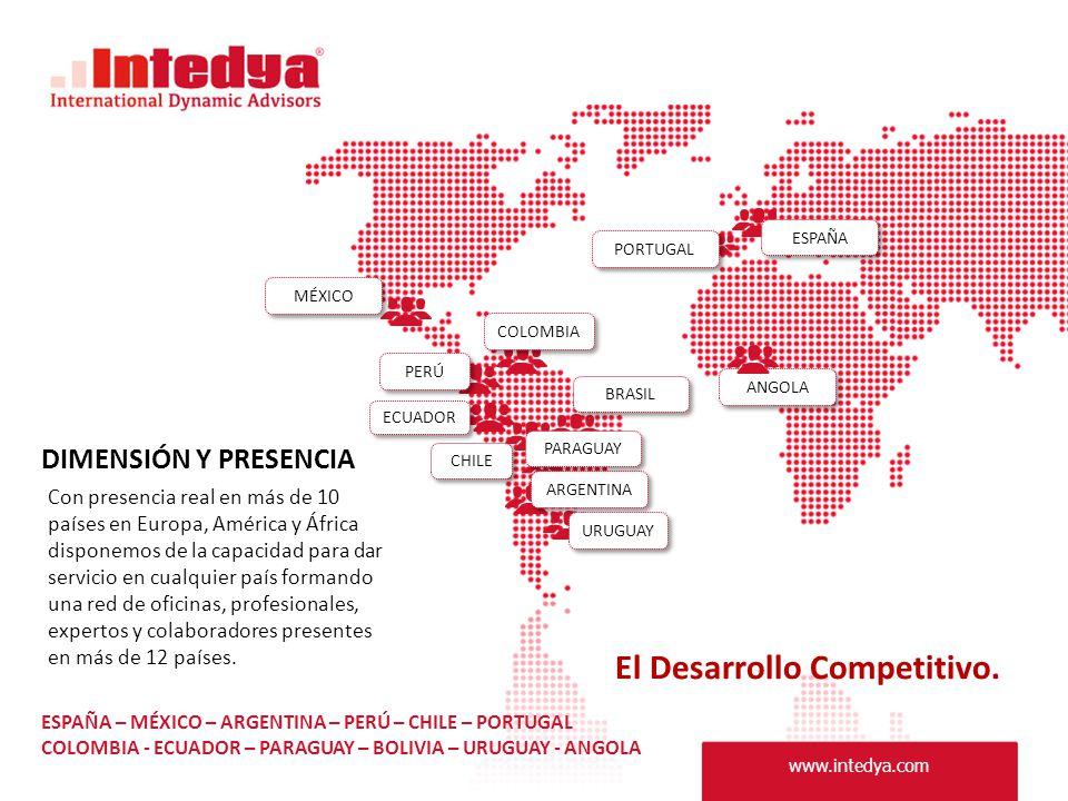 Con presencia real en más de 10 países en Europa, América y África disponemos de la capacidad para dar servicio en cualquier país formando una red de oficinas, profesionales, expertos y colaboradores presentes en más de 12 países.