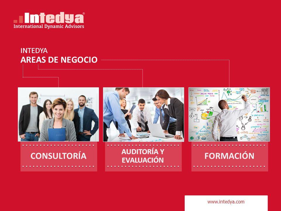 www.intedya.com INTEDYA AREAS DE NEGOCIO CONSULTORÍA AUDITORÍA Y EVALUACIÓN FORMACIÓN