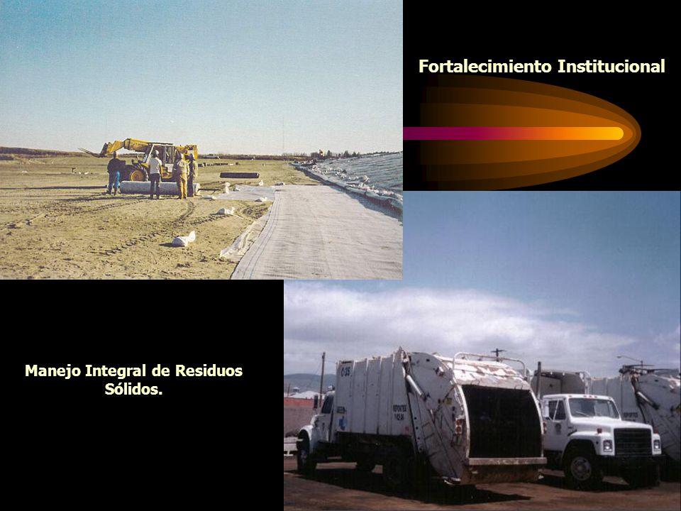 1 Fortalecimiento Institucional Manejo Integral de Residuos Sólidos.