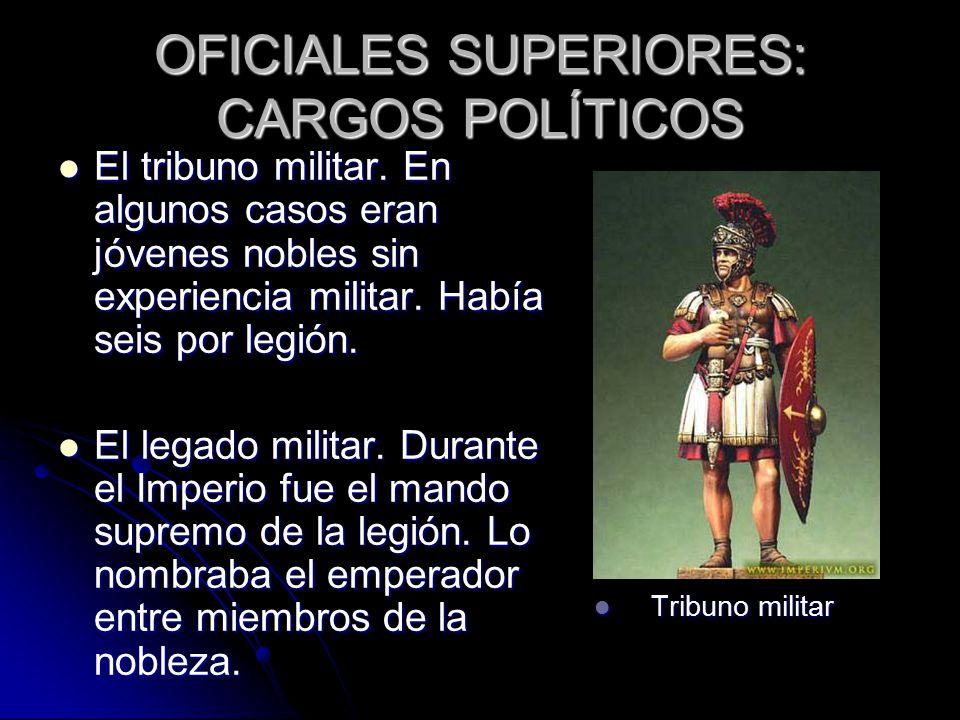 OFICIALES SUPERIORES: CARGOS POLÍTICOS El tribuno militar.