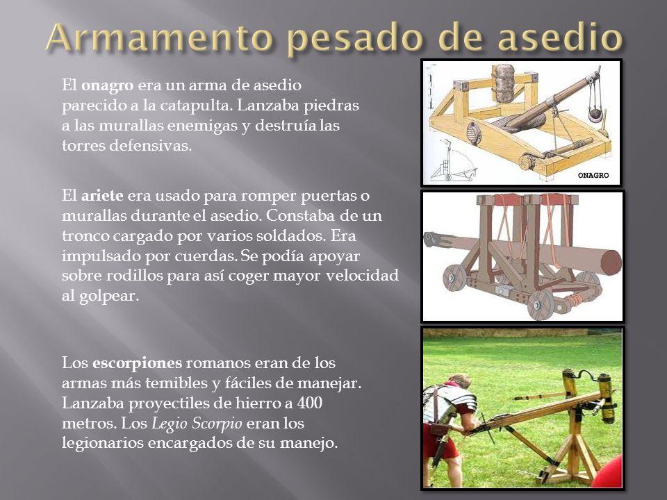 El ariete era usado para romper puertas o murallas durante el asedio.