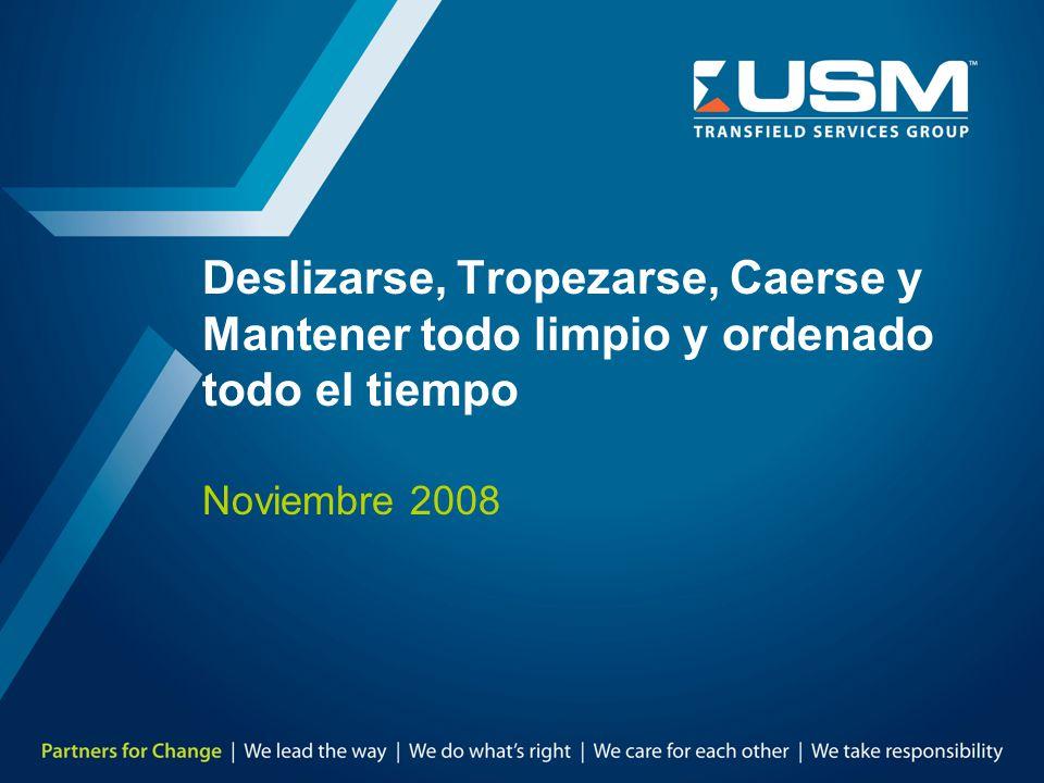 Deslizarse, Tropezarse, Caerse y Mantener todo limpio y ordenado todo el tiempo Noviembre 2008