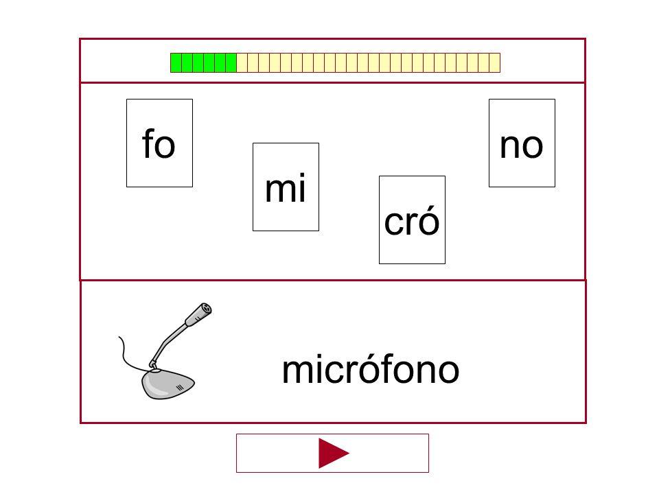 no mi fo cró …micrófo…