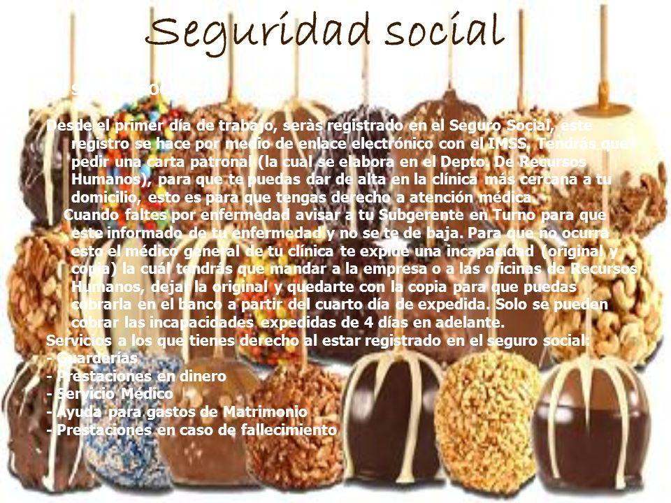 Seguridad social A)SEGURO SOCIAL: Desde el primer día de trabajo, seràs registrado en el Seguro Social, este registro se hace por medio de enlace elec