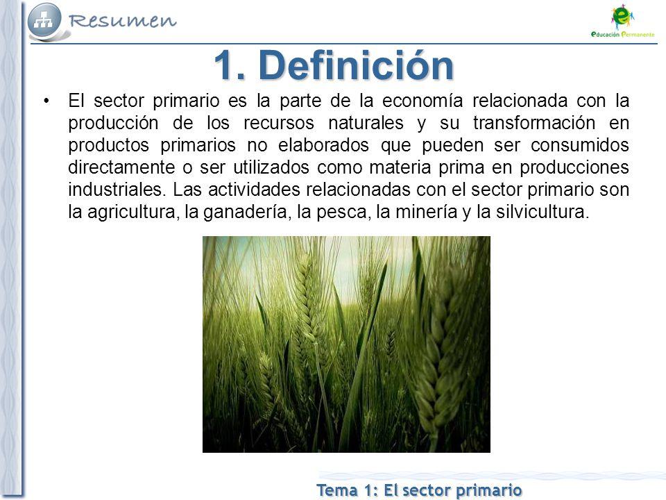 Tema 1: El sector primario 1.