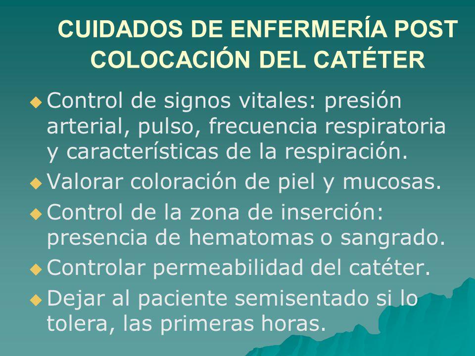 CONTROL DE PVC   Colóquese gorro, tapaboca y guantes estériles.