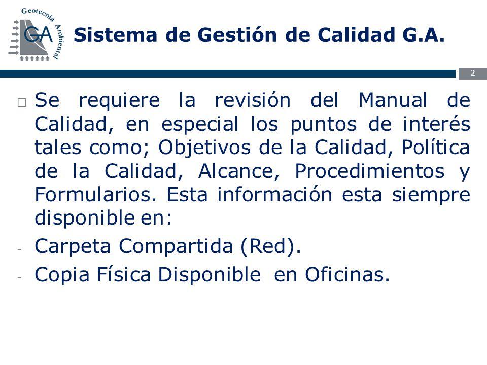 Sistema de Gestión de Calidad G.A.