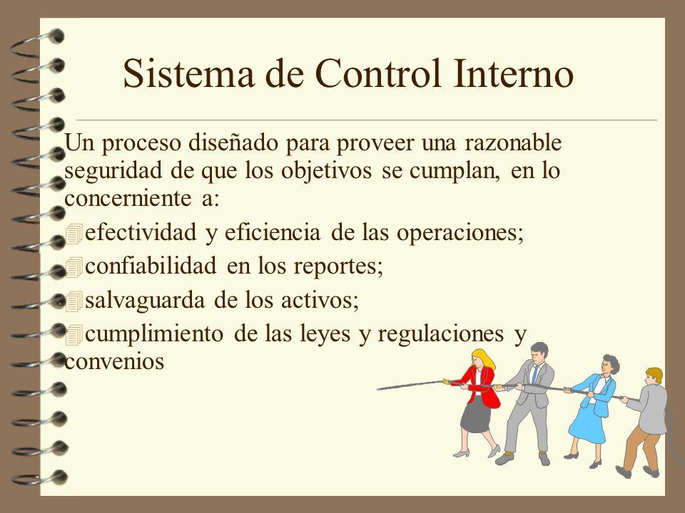 4 El control interno es efectuado por las personas.