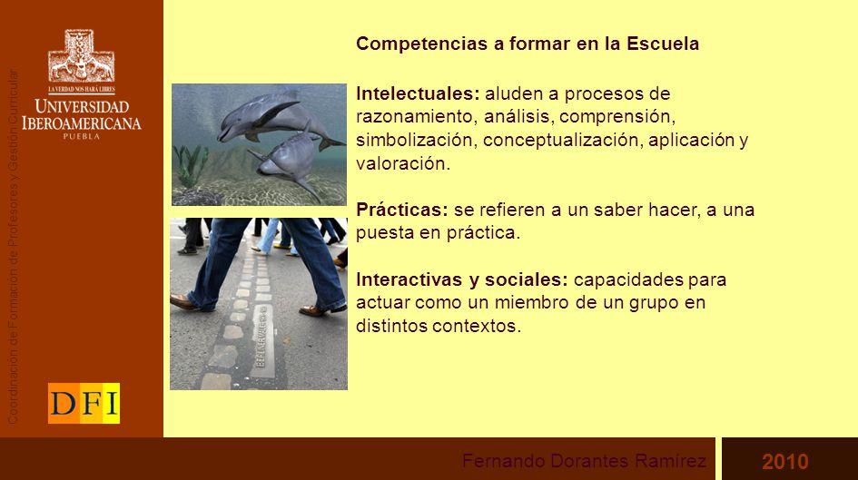 Competencias a formar en la Escuela Intelectuales: aluden a procesos de razonamiento, análisis, comprensión, simbolización, conceptualización, aplicación y valoración.
