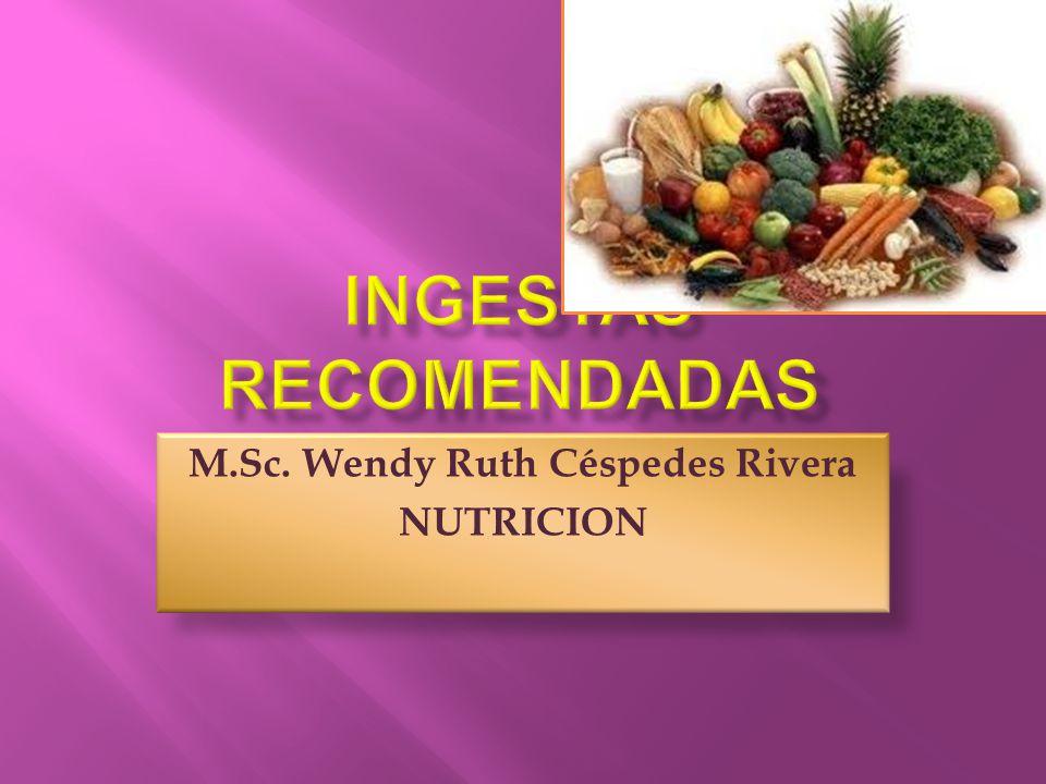  Una buena alimentacion debe basarse en una adecuada ingesta de nutrientes.