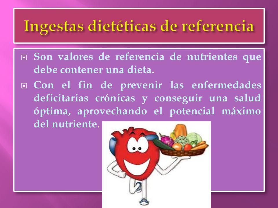  Las recomendaciones nutricionales se deben expresar en cantidades de energía y nutrientes y no por grupos de alimentos, ya que los hábitos de consumo varían de un colectivo a otro.
