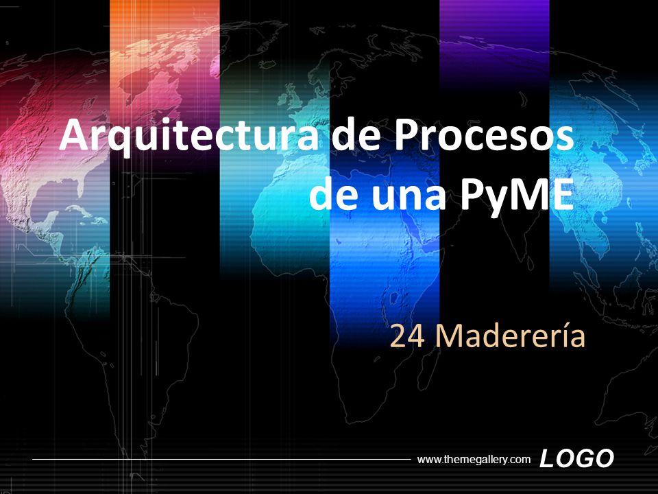 LOGO www.themegallery.com Arquitectura de Procesos de una PyME 24 Maderería