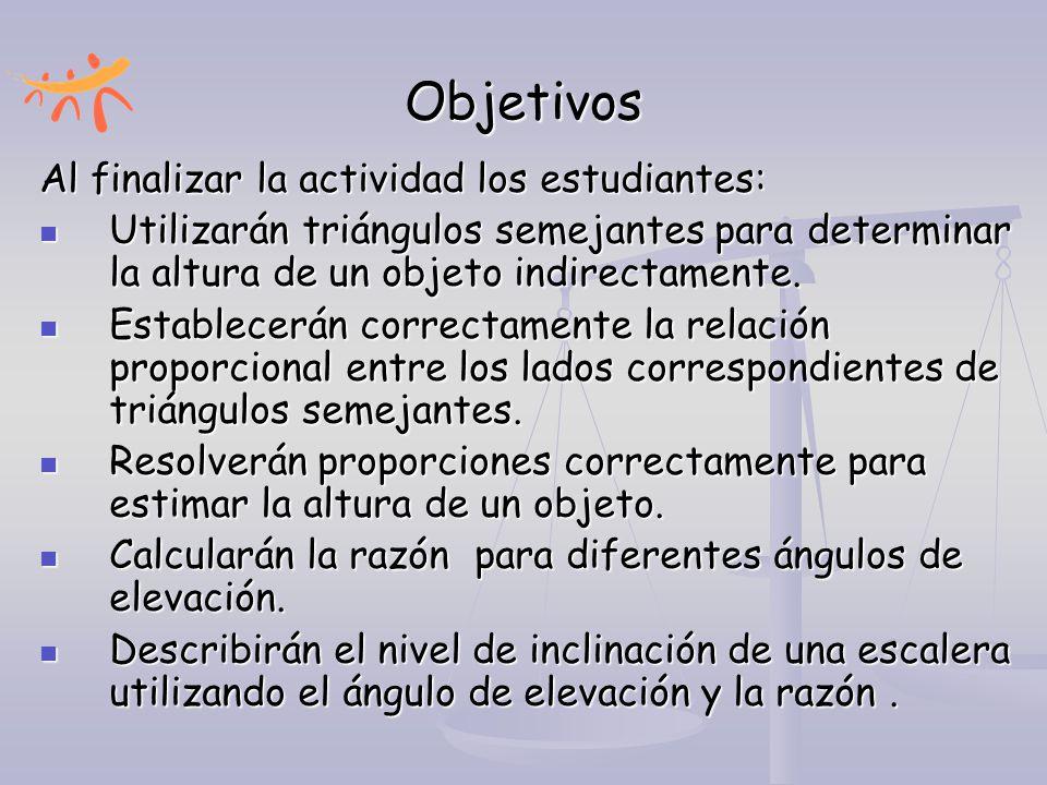 Actividad III: No Te Recuestes Tanto a) Describe las diferencias entre las posiciones de las dos escaleras.