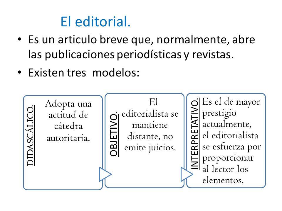 El editorial.