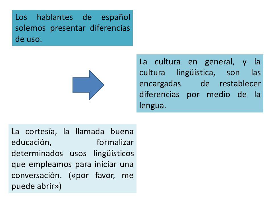 Los hablantes de español solemos presentar diferencias de uso.
