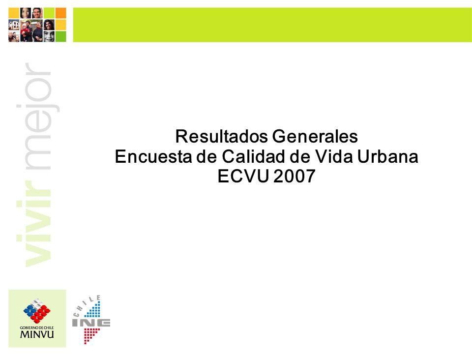 Resultados Generales Encuesta de Calidad de Vida Urbana ECVU 2007